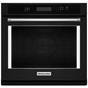 "KitchenAid Single Electric Wall Oven - 5.0 cu. ft - 30"" - Black"