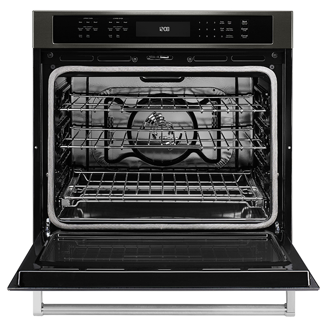 "KitchenAid(R) Single Electric Wall Oven - 30"" - Black SS"