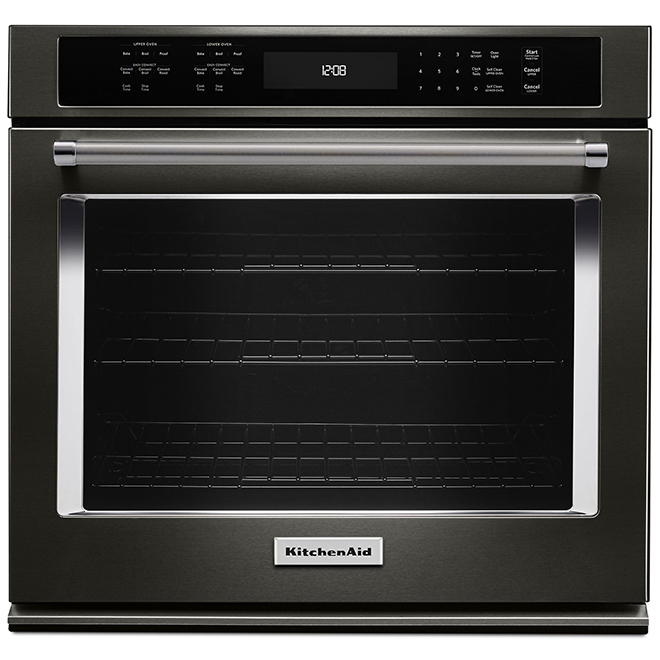"KitchenAid(R) Simple Electric Wall Oven - 27"" - Black SS"