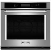 "Four mural électrique simple KitchenAid(MD), 27"", inox"