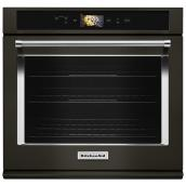 "KitchenAid(R) Built-In Oven with Speed Cook - 30"" - Black SS"