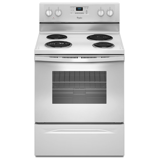 Whirlpool 30'' Electric Range - Self-Cleaning - White