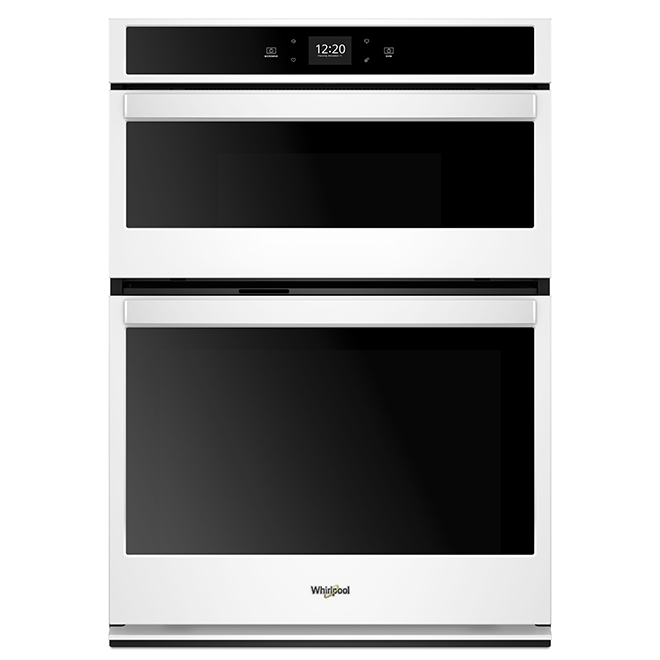 27'' Whirlpool Smart Double Wall Oven - Self-Cleaning - White