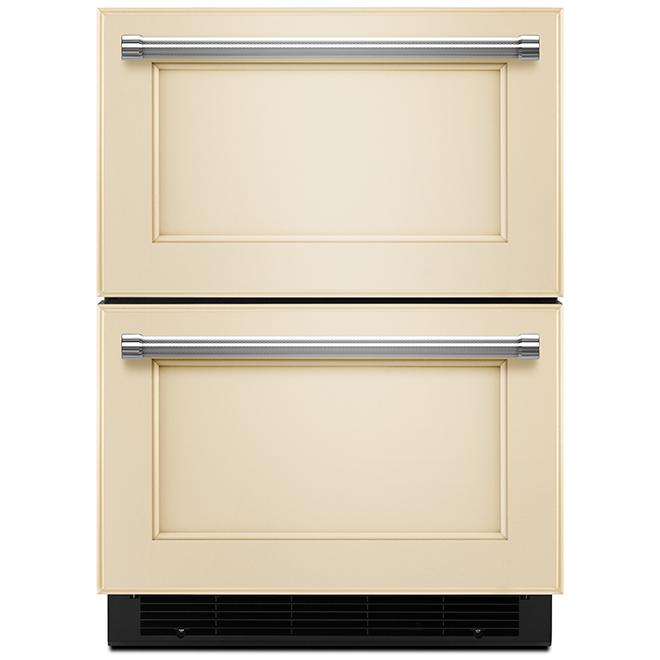 Réfrigérateur tiroir prêt panneau KitchenAid, 4,7 pi³, 24''