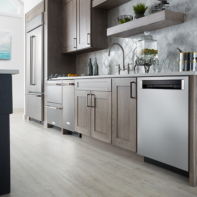 "KitchenAid(R) Drawer Refrigerator - 24"" - 4.7 cu. ft. - SS"