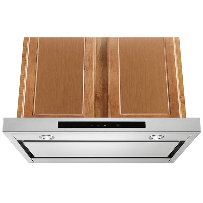 """Hotte de cuisinière sous-armoire KitchenAid, 400 PCM, 30"""", inox"""