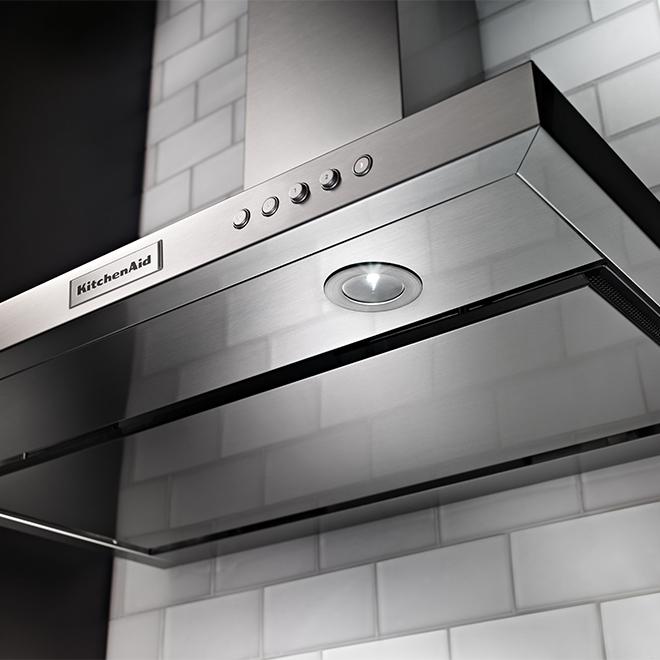 """Hotte de cuisine cheminée KitchenAid(MD), 400 PCM, 36"""", inox"""