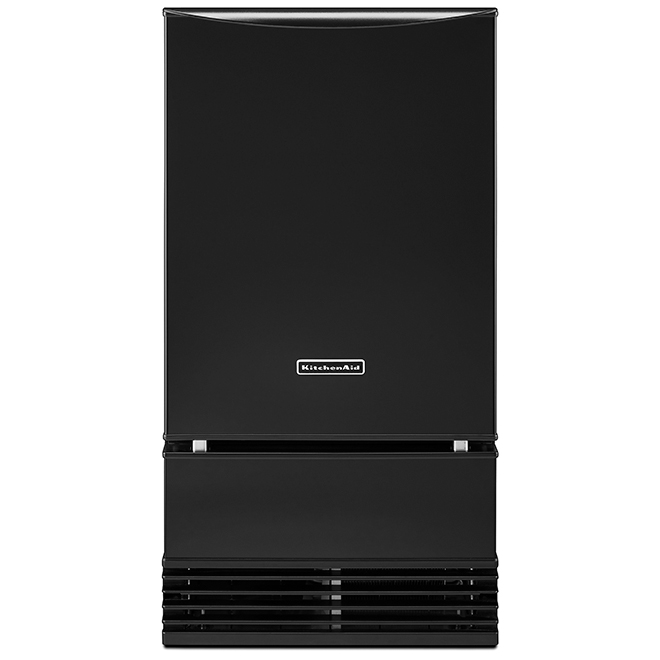 "Ice Maker with Auto Defrost Unit - 18"" - Black"