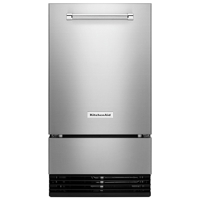 "Machine à glaçons KitchenAid, dégivrage automatique, 18"", inox"