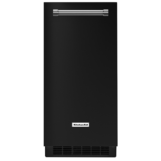 """Ice Maker with Automatic Defrost Unit - 15"""" - Black"""