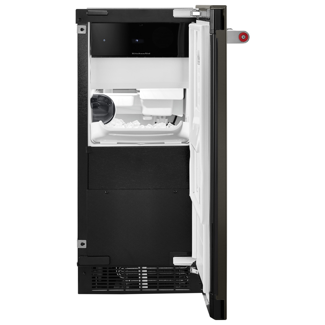 "Ice Maker with Automatic Defrost Unit - 15"" - Black SS"