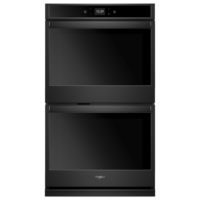 "Whirlpool(TM) Smart Double Wall Oven - 27"" - 8.6 cu. ft - Black"