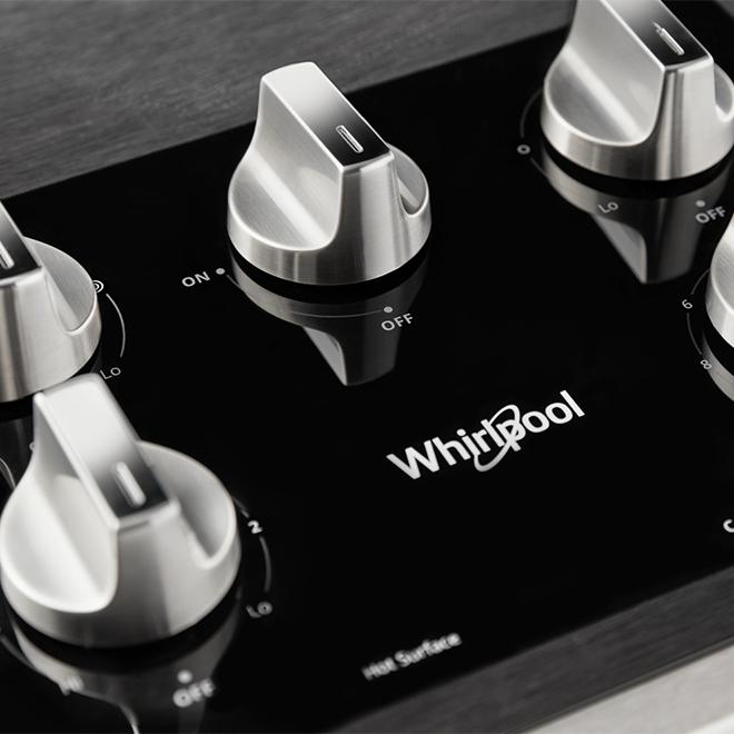 "Surface de cuisson Whirlpool(MC) à 5 brûleurs, 36"", inox"