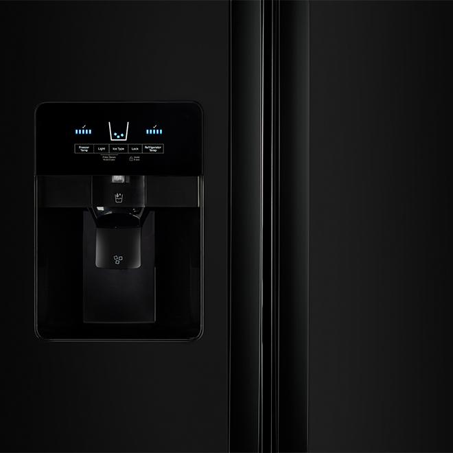 "Whirlpool Side-By-Side Refrigerator - 21.4 cu. ft - 33"" - Black"