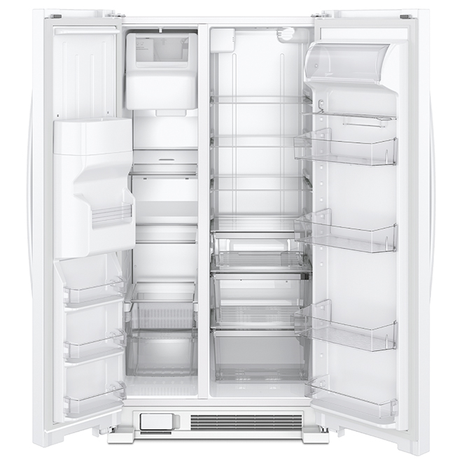 """Whirlpool Side-By-Side Refrigerator - 21.4 cu. ft - 33"""" - White"""