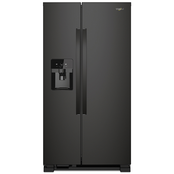 "Whirlpool Side-By-Side Refrigerator - 25 cu. ft - 36"" - Black"