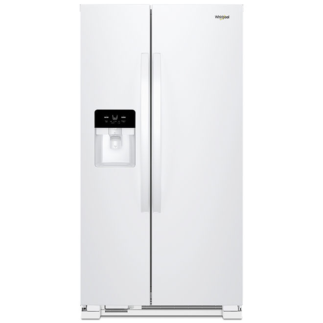 "Whirlpool Side-By-Side Refrigerator - 25 cu. ft - 36"" - White"