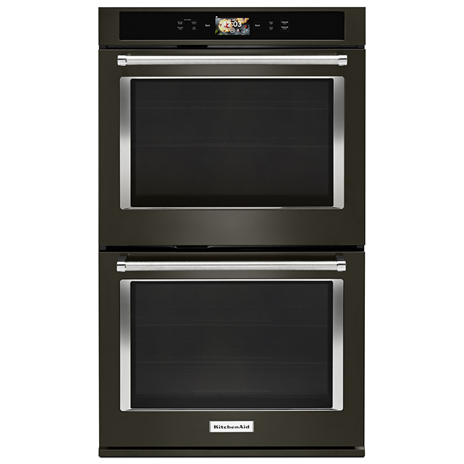 KitchenAid(R) Smart Double Wall Oven - 10 cu. ft. - Black SS