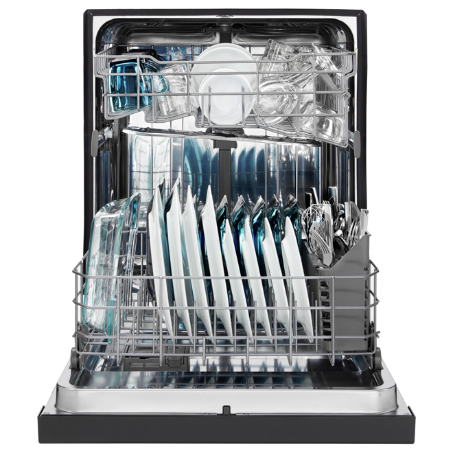 "Built-In Dishwasher with powerful motor - 24"" - Black"