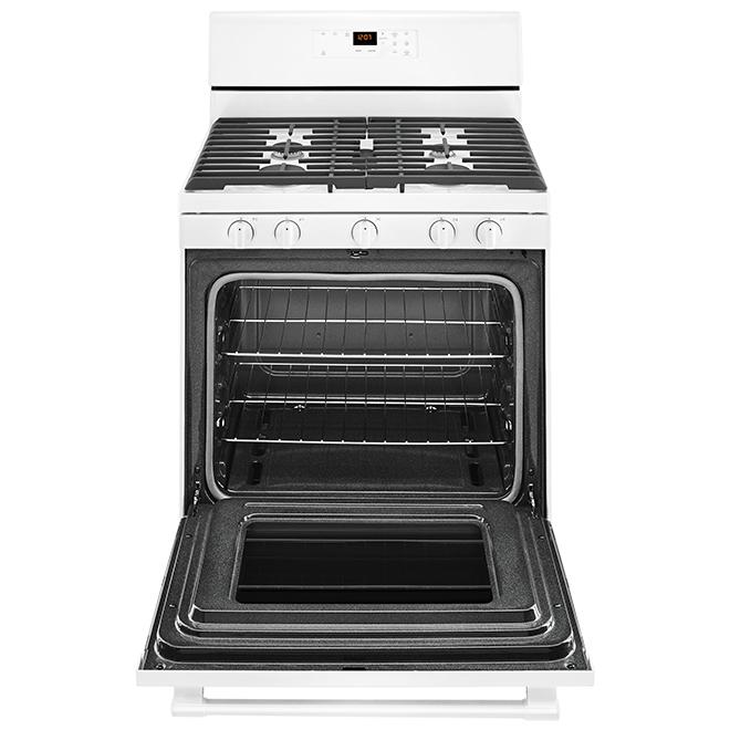 Maytag 30'' 5-Burner Freestanding Gas Range - 5 cu. ft. - White