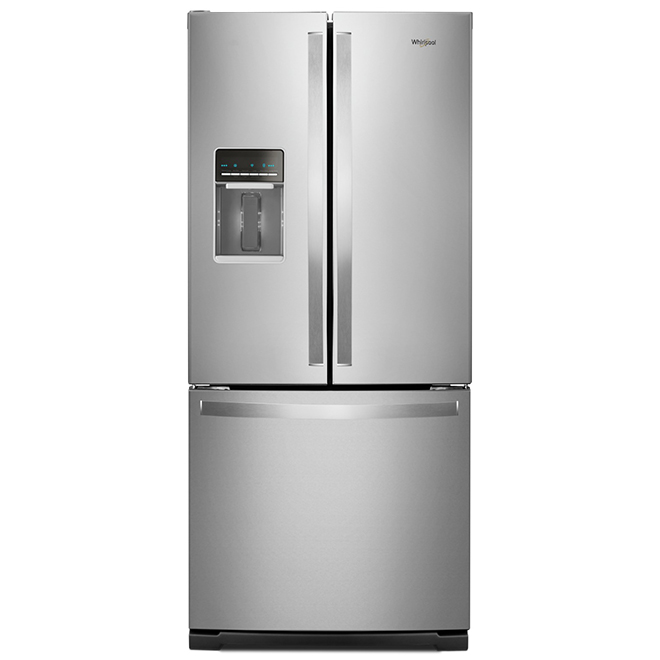 "Whirlpool(R) French-Door Refrigerator - 30"" - 19.7 cu. ft. - SS"