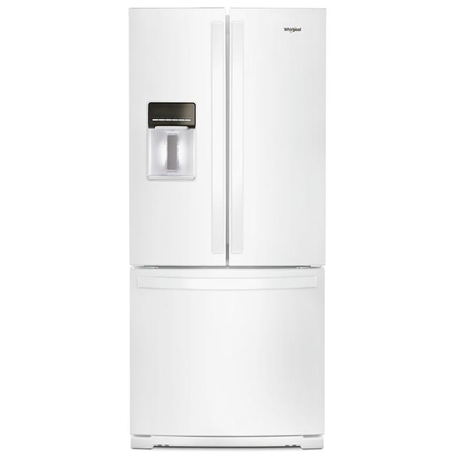 "Whirlpool French-Door Refrigerator - 30"" - 19.7 cu. ft. - White"