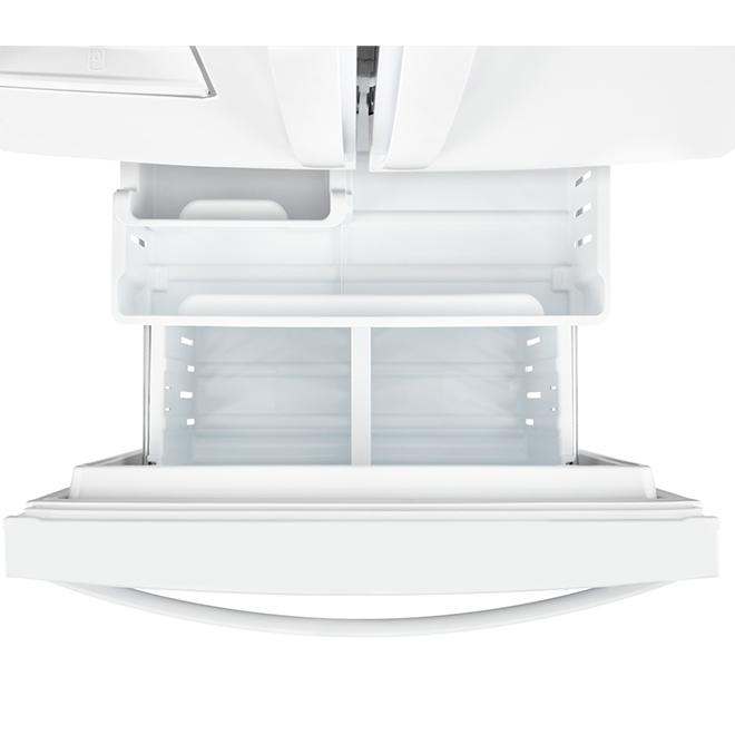 """Réfrigérateur Whirlpool, portes françaises, 30"""", 19,7 pi³, blanc"""