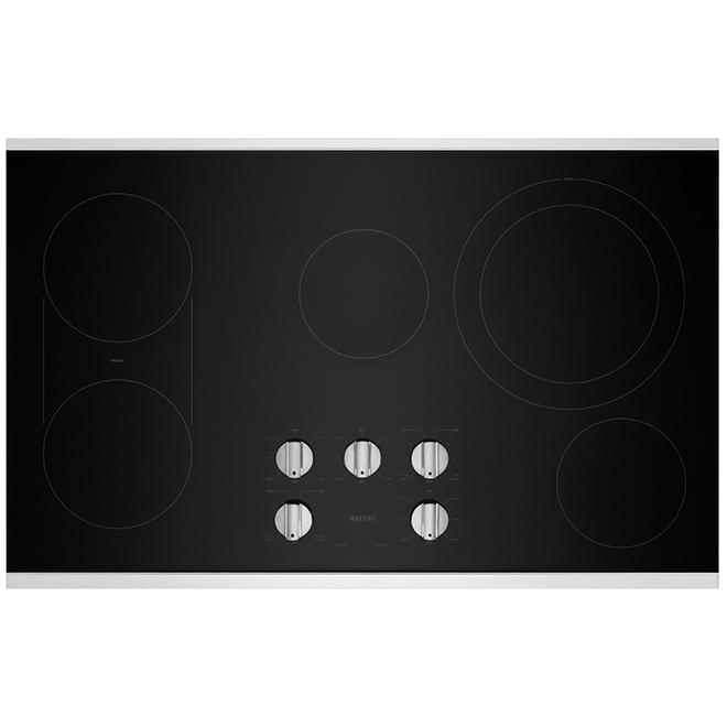 Surface de cuisson électrique Maytag Heritage avec grille, 36 po, noire/acier inoxydable
