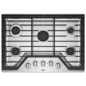 "Whirlpool(TM) Gas Cooktop - 5 Burners - 36"" - Stainless Steel"