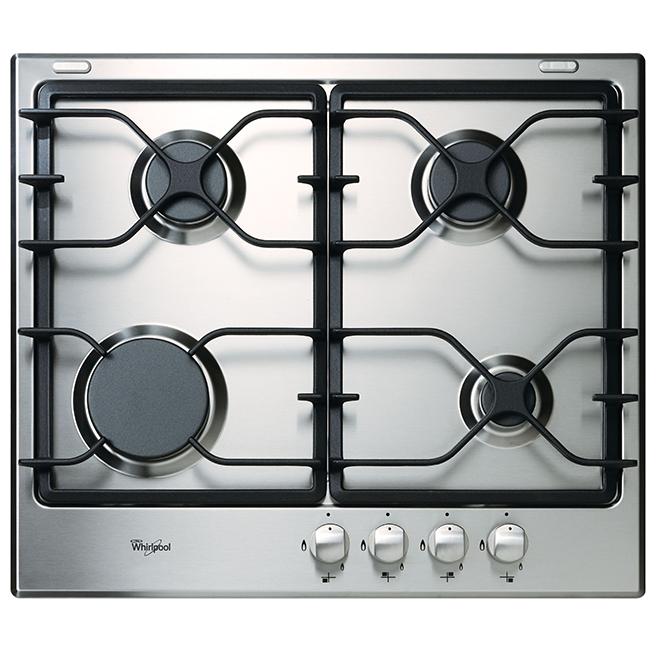 """Surface de cuisson au gaz Whirlpool(MC) à 4 éléments, 24"""", inox"""