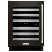 KitchenAid Wine Cellar - 46 Bottles - Black Stainless Steel