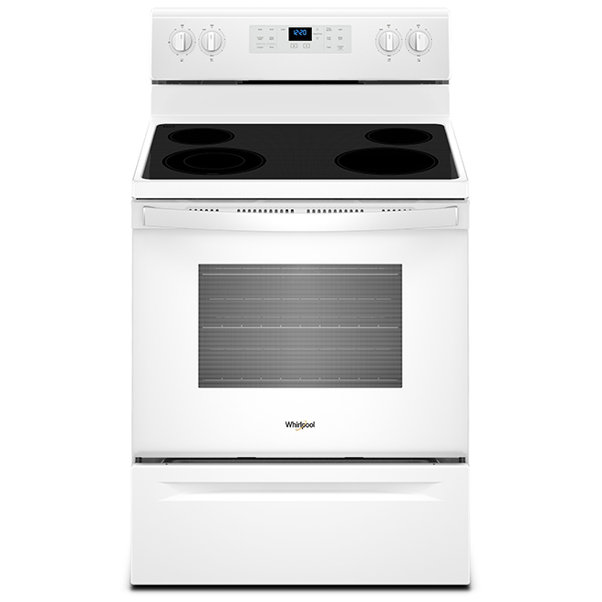 """30"""" Whirlpool Electric Convection Range - 5.3 cu. ft. - White"""