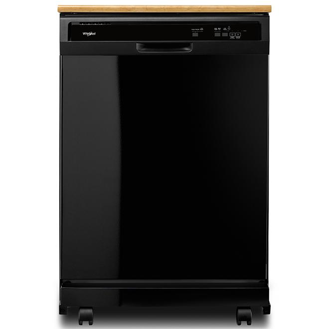 "Whirlpool(TM) Portable Heavy-Duty Dishwasher - 24"" - Black"