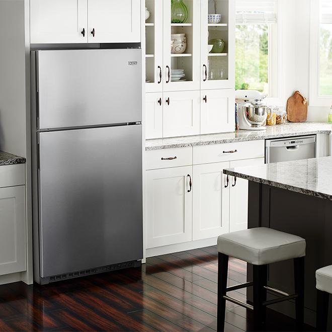 Réfrigérateur à congélateur supérieur Maytag(MD), 21 pi³, inox