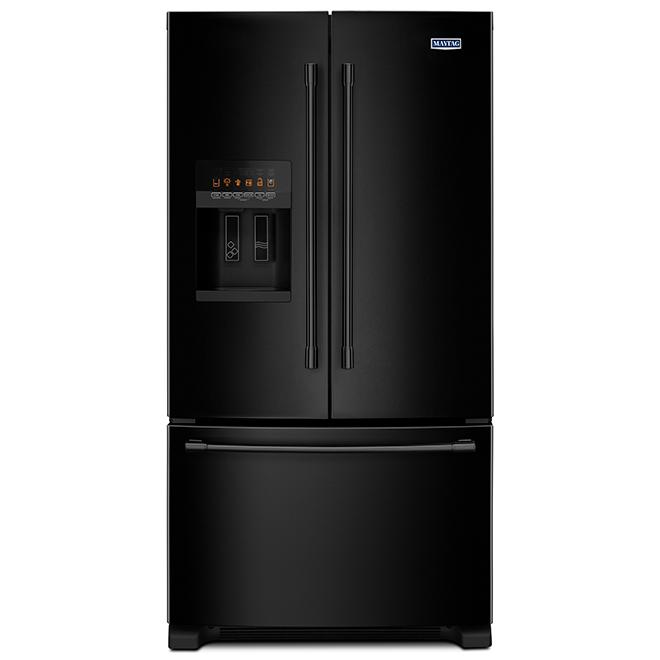 """Maytag(R) French-Door Refrigerator - 36"""" - 25 cu. ft. - Black"""