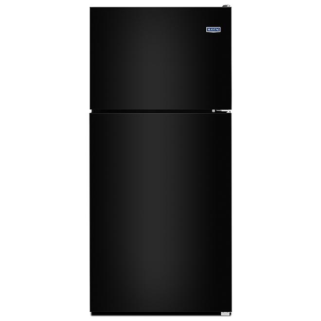 Réfrigérateur à congélateur supérieur Maytag(MD), 21 pi³, noir