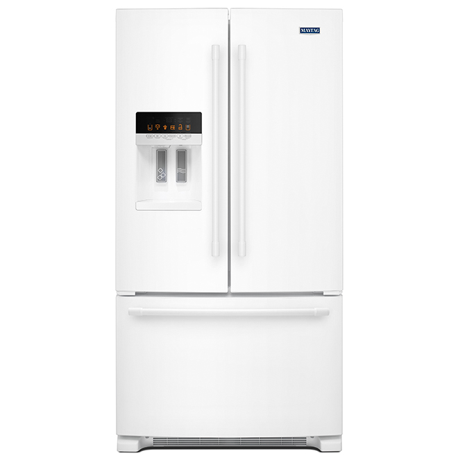 "Maytag(R) French-Door Refrigerator - 36"" - 25 cu. ft. - White"