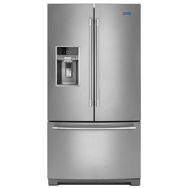 """Réfrigérateur à portes françaises Maytag(MD), 36"""", 27 pi³, inox"""