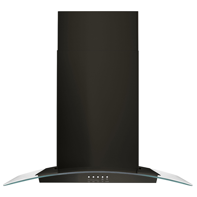"Whirlpool(TM) Wall-Mount Range Hood - 400 CFM - 30"" - Black"
