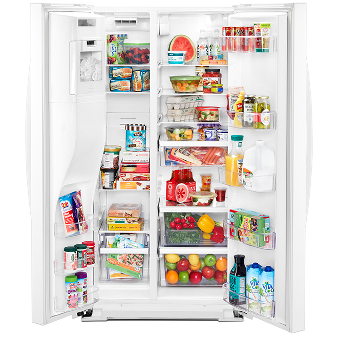 """Whirlpool Side-by-Side Refrigerator - 21 cu. ft. - 36"""" - White"""