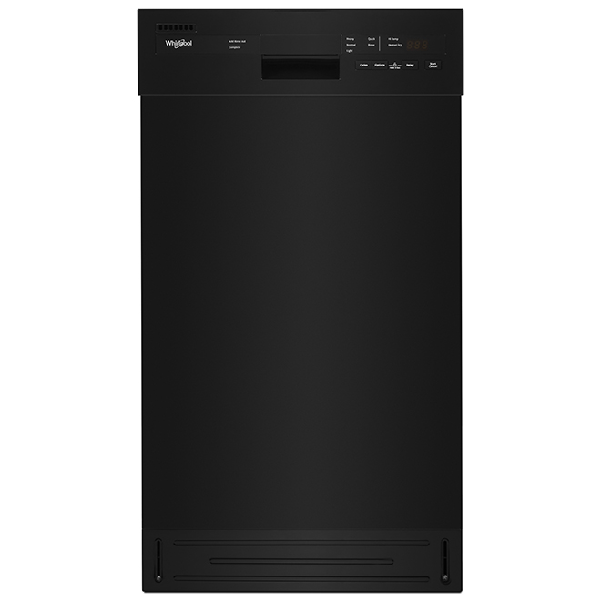 Compact Built-In Dishwasher - 18'' - Black