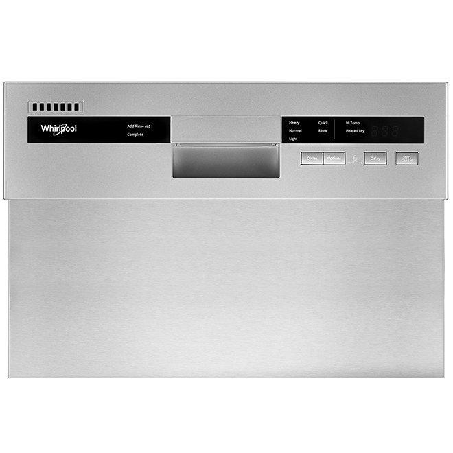 Whirlpool(TM) Compact Built-In Dishwasher - 18'' - White