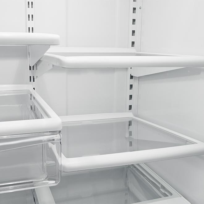 """Réfrigérateur à congélateur au bas Whirlpool 33"""", 22 pi³, blanc"""