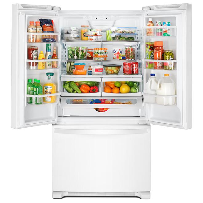 "Réfrigérateur Whirlpool(MC) avec Accu-Chill, 33"", 22 pi³, blanc"