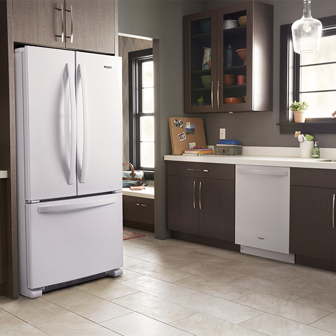 """Whirlpool 33"""" Refrigerator with Accu-Chill - 22 cu. ft - White"""