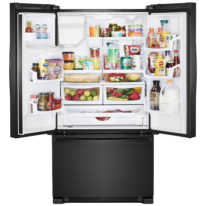 "Whirlpool French-Door Refrigerator - 36"" - 25 cu. ft. - Black"