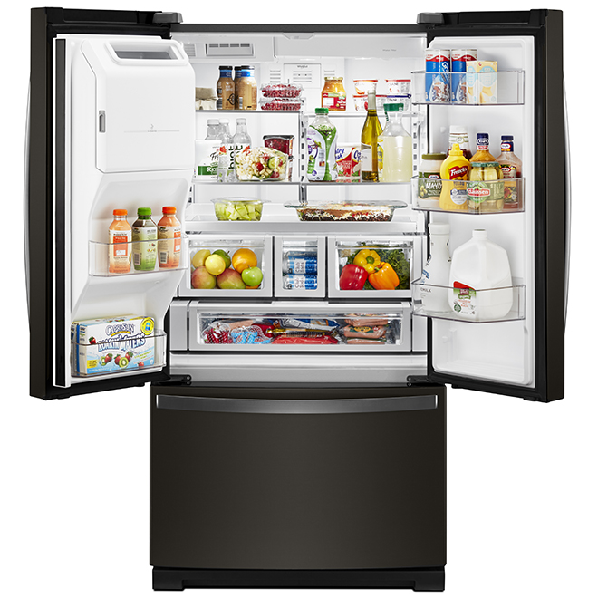 Whirlpool French-Door Refrigerator - 26.8 cu. ft. - Black SS
