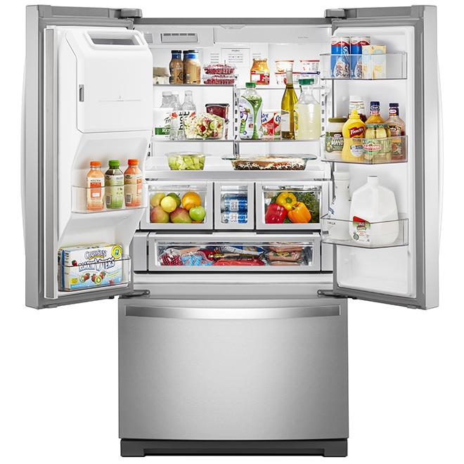 Réfrigérateur portes françaises Whirlpool(MC), 26,8 pi³, inox