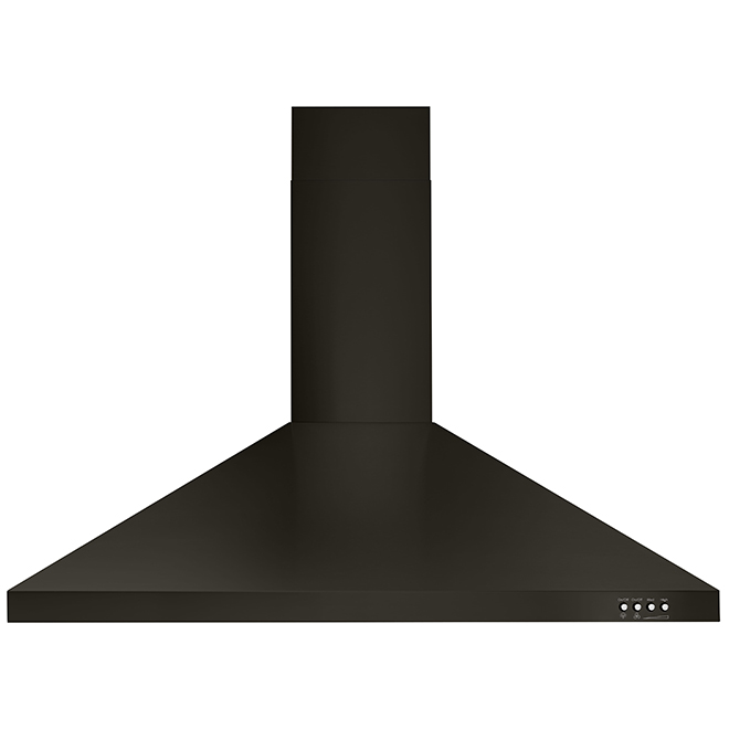 "Whirlpool(TM) Wall Chimney Hood - 36"" - 400 CFM - Black SS"