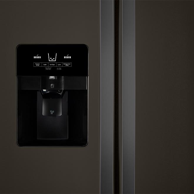 "36"" Whirlpool Side-by-Side Refrigerator - 25 cu. ft. - Black SS"